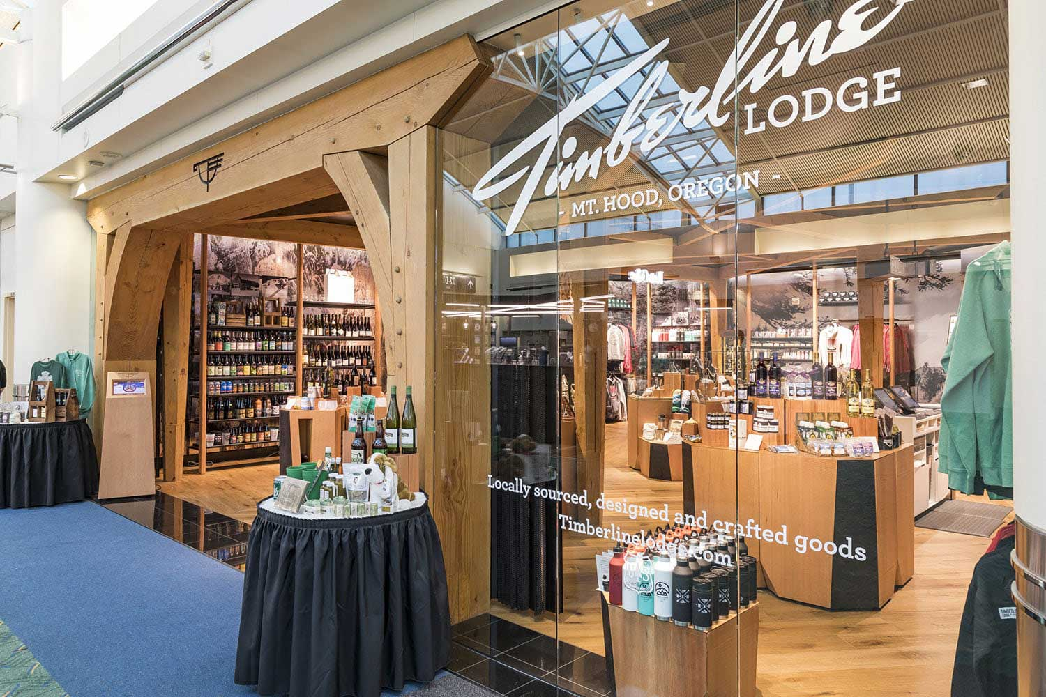 Timberline Lodge Store Timber Framing   PDX Airport