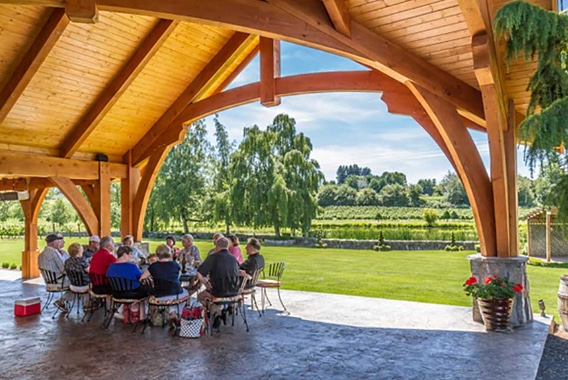 Bethany Vineyard - Timber Frame Winery