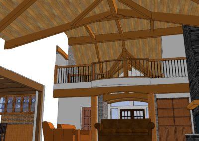 rustic timber home frame framing