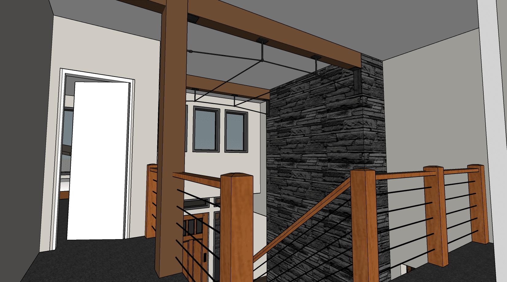 hybrid timber frame floor plan home house