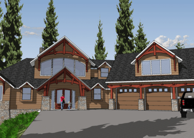 rustic timber frame house