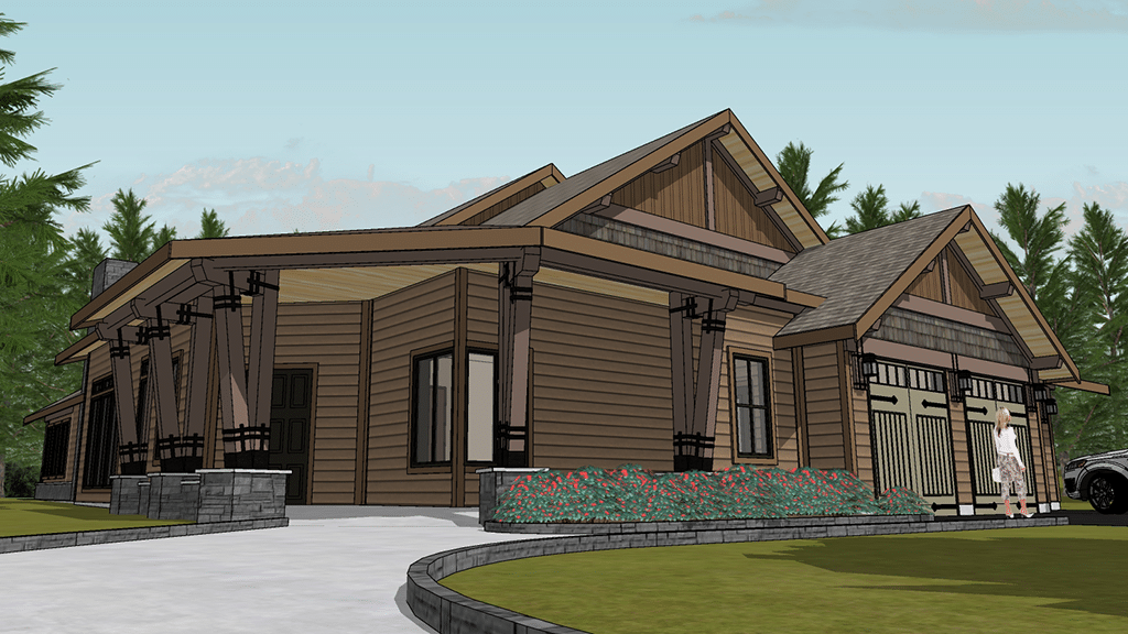 Timber Frame Home w/ Metal & Traditional Joinery