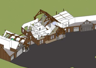 hybrid craftsman timber frame home
