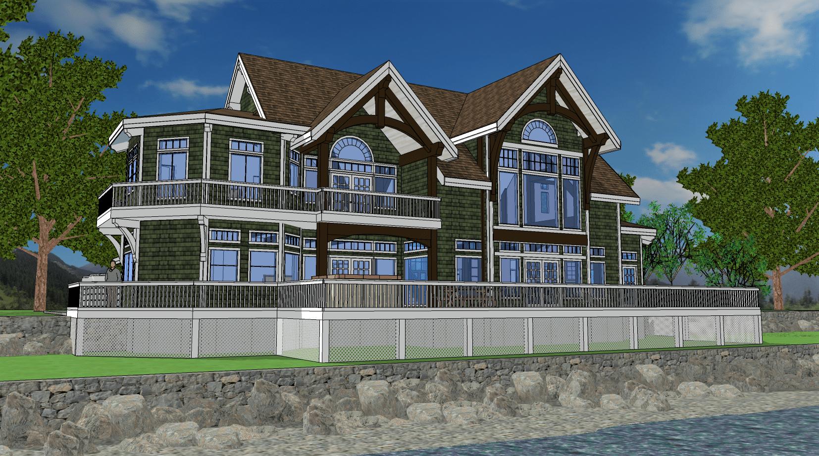 Coastal Timber Frame Home Floor Plan