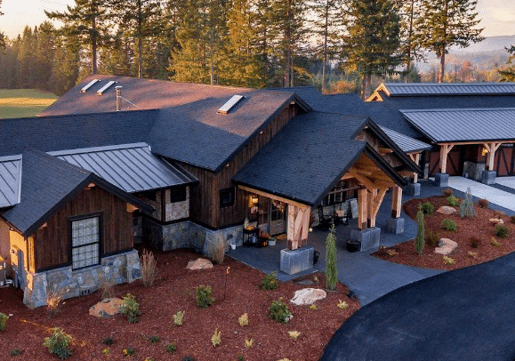 Sprawling Craftsman Hybrid Timber Frame Home