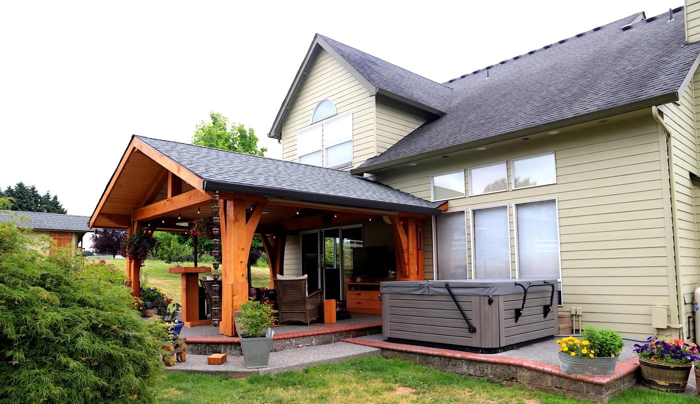 Back Patio Timber Frame Porch