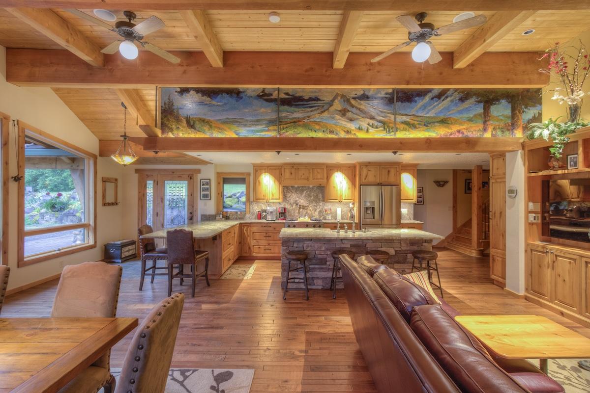 Rustic Craftsman Timber Frame Home