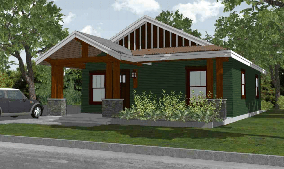small timber frame house plan