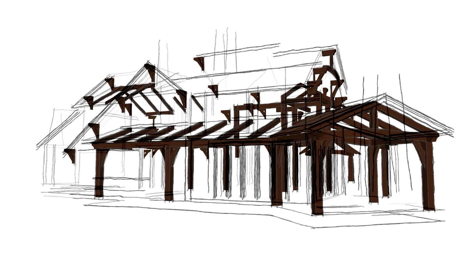 Timber Frame Home Floor Plans - Custom House Design