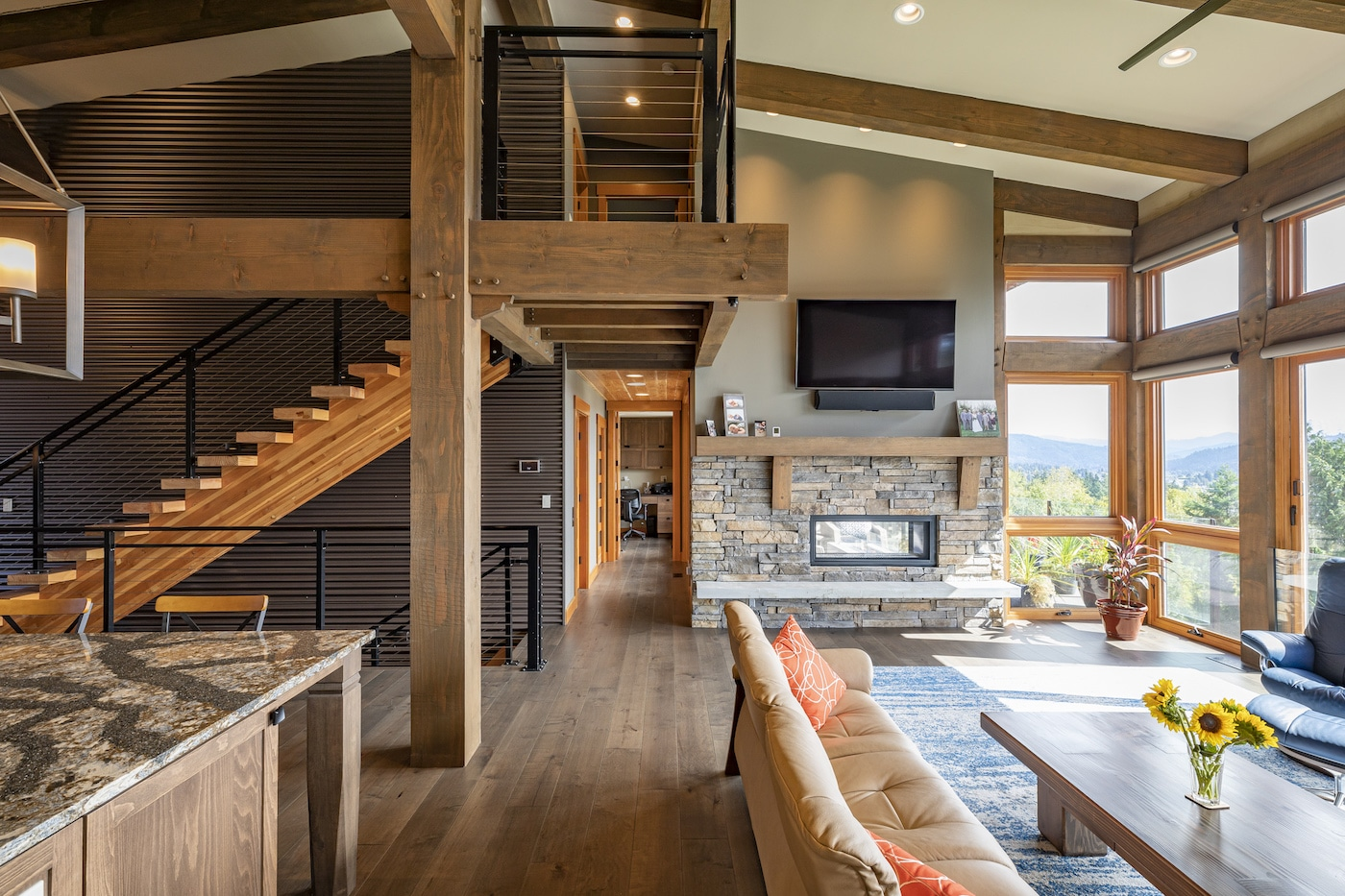 Modern Northwest Contemporary Timber Home