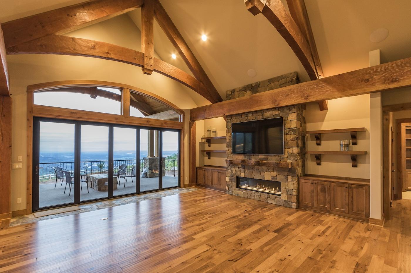 hybrid timber frame house