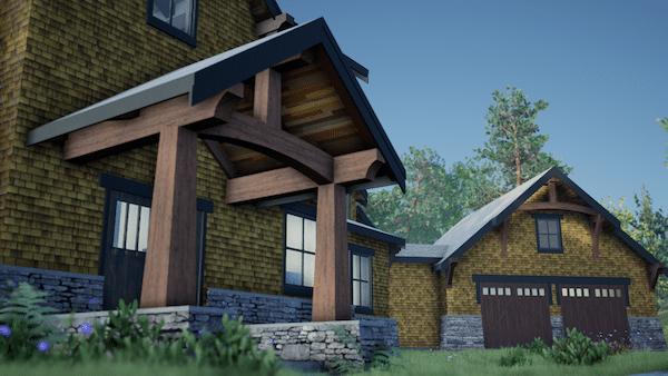 Post & Beam House Plan Design